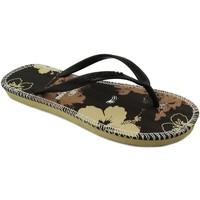 Zapatos Mujer Chanclas Brasileras Flor Brown