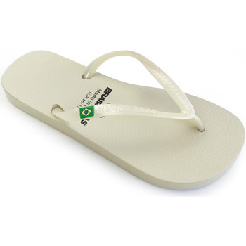 Zapatos Mujer Chanclas Brasileras Chanclas de playa ®, Classic Pearl W Silver