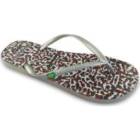 Zapatos Mujer Chanclas Brasileras Printed 20 Skin Silver