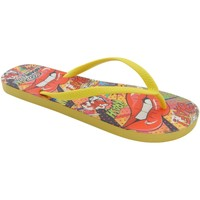 Zapatos Mujer Chanclas Brasileras Printed Pop Art Yellow