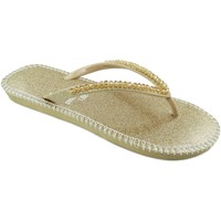 Zapatos Mujer Chanclas Brasileras Shiny Gold