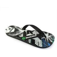 Zapatos Hombre Chanclas Brasileras Chanclas de playa ®,Printed 20 Mix Black