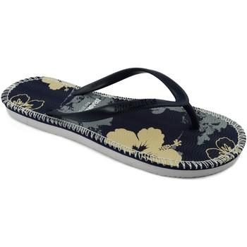 Zapatos Mujer Chanclas Brasileras Flor Blue