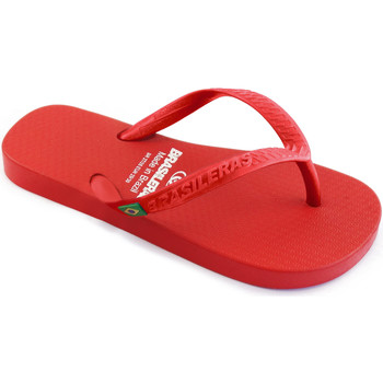 Zapatos Niños Chanclas Brasileras Chanclas de playa ®,Clasica Brasil NL KID Red