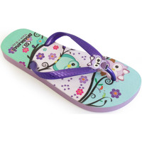 Zapatos Niños Chanclas Brasileras Chanclas de playa ®,Printed Bubo Purple