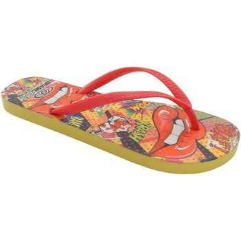 Zapatos Mujer Chanclas Brasileras Printed Pop Art Red