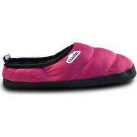 Zapatos Mujer Pantuflas Nuvola. Zapatillas de estar en casa Clasica Suela de Goma Fuchsia