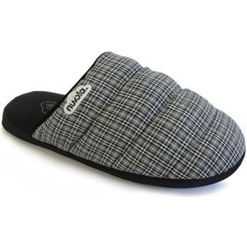 Zapatos Pantuflas Nuvola. Zapatilla de estar por casa NUVOLA®,Zueco Scottish Suela Goma. Grey