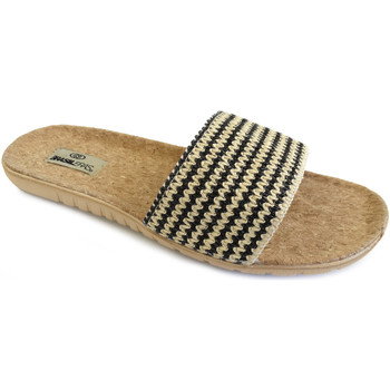 Zapatos Mujer Zuecos (Mules) Brasileras Sandalia ®,Tren Plant Pala Black
