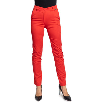 textil Mujer Pantalones chinos Akè F646XALP6684 Rosso
