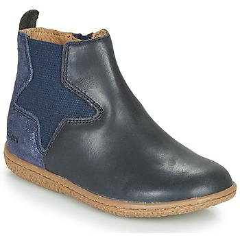 Zapatos Niña Botas de caña baja Kickers VERMILLON Marino