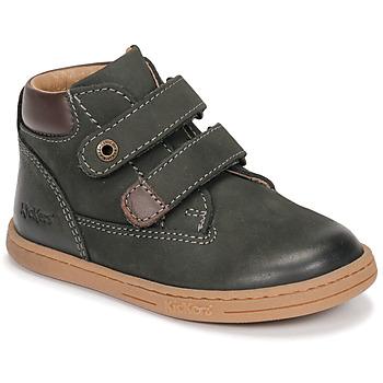 Zapatos Niño Botas de caña baja Kickers TACKEASY Kaki