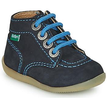 Zapatos Niño Botas de caña baja Kickers BONZIP-2 Marino