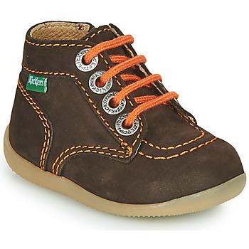 Zapatos Niño Botas de caña baja Kickers BONZIP-2 Marrón / Naranja