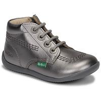 Zapatos Niña Botas de caña baja Kickers BILLYZIP-2 Plata