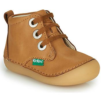 Zapatos Niños Botas de caña baja Kickers SONIZA Camel