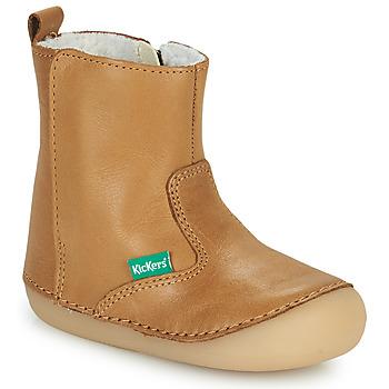 Zapatos Niña Botas de caña baja Kickers SOCOOL CHO Camel