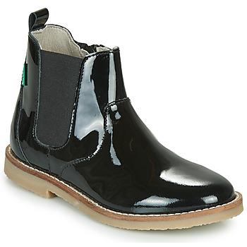 Zapatos Niña Botas de caña baja Kickers TYPIK Negro / Barniz