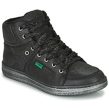 Zapatos Niña Zapatillas altas Kickers LOWELL Negro
