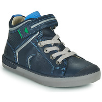 Zapatos Niño Zapatillas altas Kickers IRELAS Marino / Azul