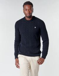 textil Hombre Jerséis Timberland LAMBWOOL CABLE Marino