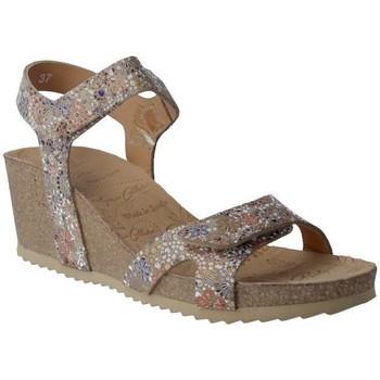 Zapatos Mujer Sandalias Calzados Penelope Penelope Collection 5754 Sandalias con Cuña de Mujer Beige