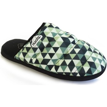 Zapatos Pantuflas Nuvola. Zapatilla de estar por casa NUVOLA®,Zueco Geo Suela de Goma. Green