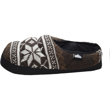 Zapatos Pantuflas Nuvola. Zapatilla de estar por casa NUVOLA®,WoolStyle Suela de Tela Brown