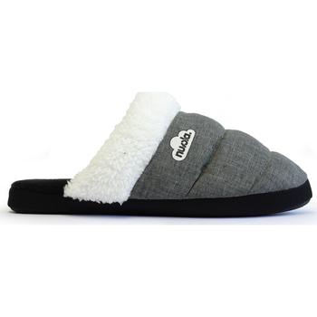 Zapatos Pantuflas Nuvola. Zapatilla de estar por casa NUVOLA®,Zueco Wolly Suela de Goma. Grey