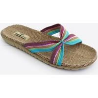 Zapatos Mujer Zuecos (Mules) Brasileras Sandalia ®,Tren Arco LT.Blue