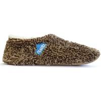 Zapatos Pantuflas Nuvola. Zapatilla de estar por casa NUVOLA®,Polar Suela de Tela. Brown