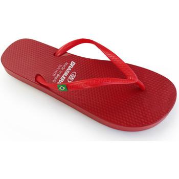 Zapatos Mujer Chanclas Brasileras Chanclas de playa ®, Classic Pearl W Red