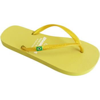 Zapatos Mujer Chanclas Brasileras Chancla ®, Classic Pearl W Yellow