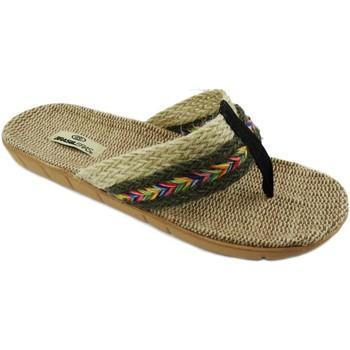 Zapatos Mujer Chanclas Brasileras Tren Hippie Green