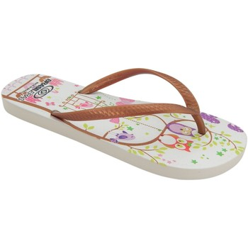 Zapatos Mujer Chanclas Brasileras Printed Owl Brown