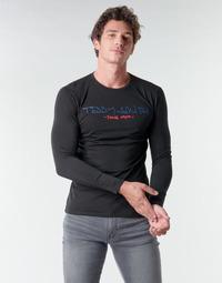 textil Hombre Camisetas manga larga Teddy Smith TICLASS BASIC M Negro