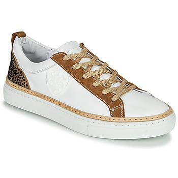 Zapatos Mujer Zapatillas bajas Philippe Morvan CORK V1 NAPPA BLANC Blanco / Camel