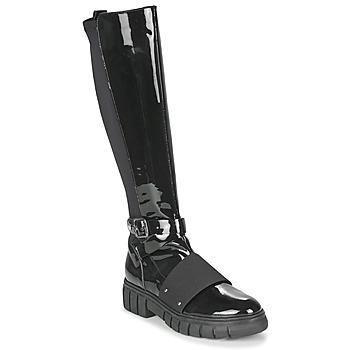 Zapatos Mujer Botas de caña baja Philippe Morvan DARMY V1 VERNIS NOIR Negro