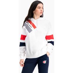 textil Mujer Sudaderas Champion Sudadera con capucha de rayas gráficas y bloques de color Blanco