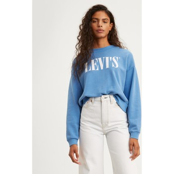 textil Mujer sudaderas Levis Strauss JERSEY LEVIS DIANA CREW COLOR AZUL