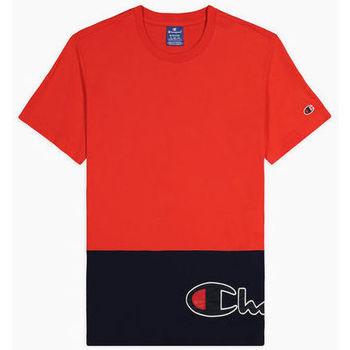 textil Hombre Camisetas manga corta Champion Camiseta con logo envolvente de color block