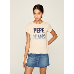textil Mujer Camisetas manga corta Pepe jeans CAMISETA  CAT