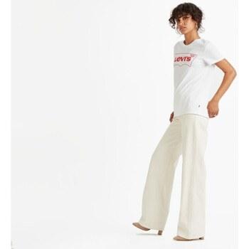 textil Mujer Camisetas manga corta Levi's Strauss CAMISETA LEVI'S COLOR BLANCO Blanco