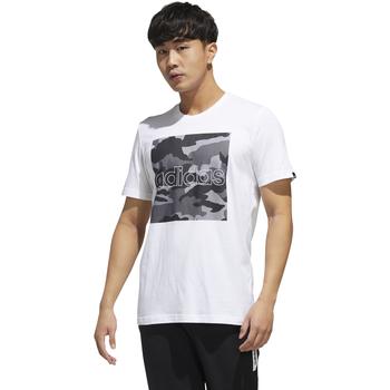 textil Hombre camisetas manga corta Adidas Performace CAMISETA ADIDAS M CAMO BOX T Blanco