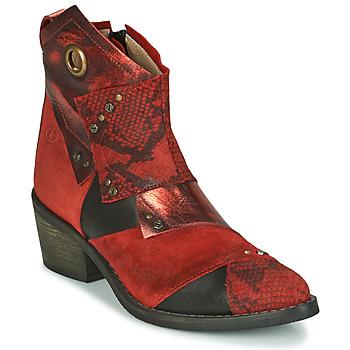Zapatos Mujer Botines Casta DEMA Rojo