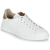 Zapatos Mujer Zapatillas bajas Victoria TENIS PIEL VEG Blanco / Marrón