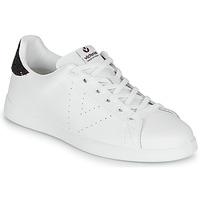 Zapatos Mujer Zapatillas bajas Victoria TENIS PIEL Blanco / Burdeo