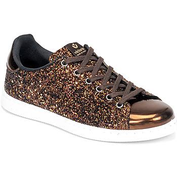 Zapatos Mujer Zapatillas bajas Victoria TENIS GLITTER Bronce
