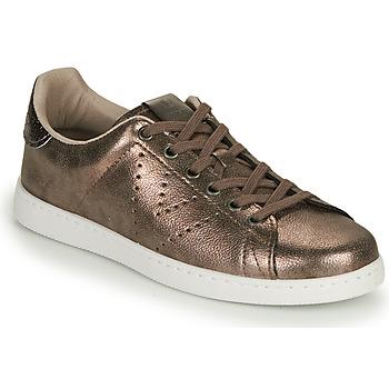 Zapatos Mujer Zapatillas bajas Victoria TENIS METALIZADO Oro