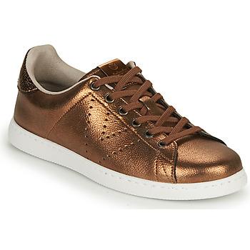 Zapatos Mujer Zapatillas bajas Victoria TENIS METALIZADO Bronce